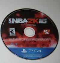 Sony PS4 NBA 2K16 game disc