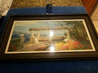 rectangular brown wooden framed painting of house Tampa, 33603