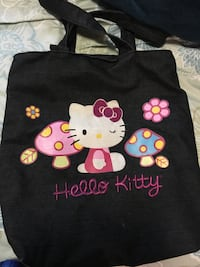 White, pink, and black Hello Kitty print bag London, N5V