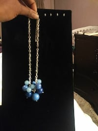 Beautiful blue and translucent blue beaded flower