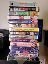 VHS Disney and cartoons