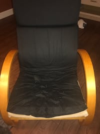 black and brown leather rolling armchair Edmonton, T5Z 2N3