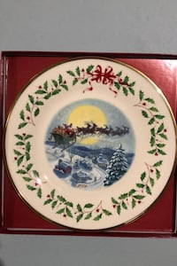 LENOX The Annual Holiday Collector Plate 2002 Brick, 08724