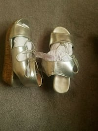 Silver wedge sandal  Scotchtown, 10941