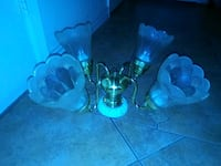 two black and blue glass candle holders Waco, 76710