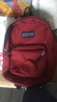 Burgundy  jansport backpack 1317 km