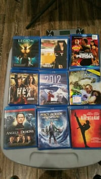 nine assorted Blu-ray movie cases Sterling, 20164