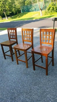3 brown wooden armless chairs Arlington, 22203