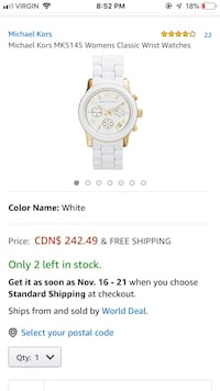Michael Kors 5145 Womens watch Brampton, L6Y