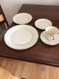 white ceramic plates and bowls Lowell, 45744