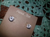 Sterling silver cubic serconia stud earrings Minneapolis, 55431