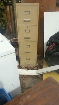 white metal 4-drawer filing cabinet Leduc, T9E
