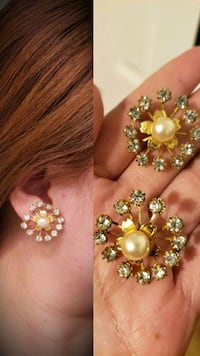 Pearl and Cz Earring