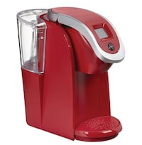 red and gray Keurig coffeemaker