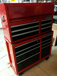 red and black Craftsman tool chest Fontana, 92336