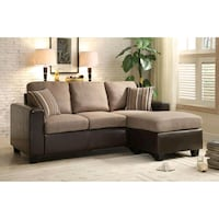 Slater Grayish Brown Reversible Sofa Chaise | 8401 Houston