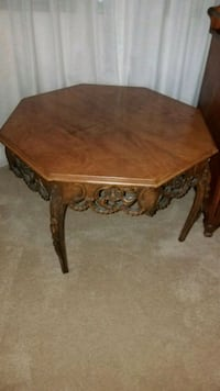 Octagon antique wooden coffee table Woodbourne-Hyde Park, 45459