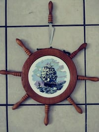 Ships wheel like cheese cutter with knife. Myrtle Beach, 29577