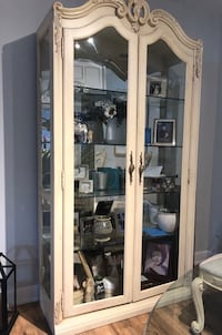 Solid maple  wood display cabinet