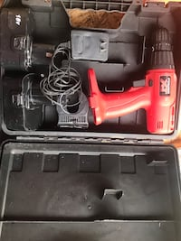 Black and red cordless power drill London, N6E 2B2