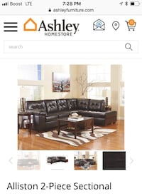 black leather sectional sofa screenshot Minneapolis, 55404