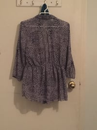 Women's black and gray leopard print long-sleeved blouse Surrey, V3R