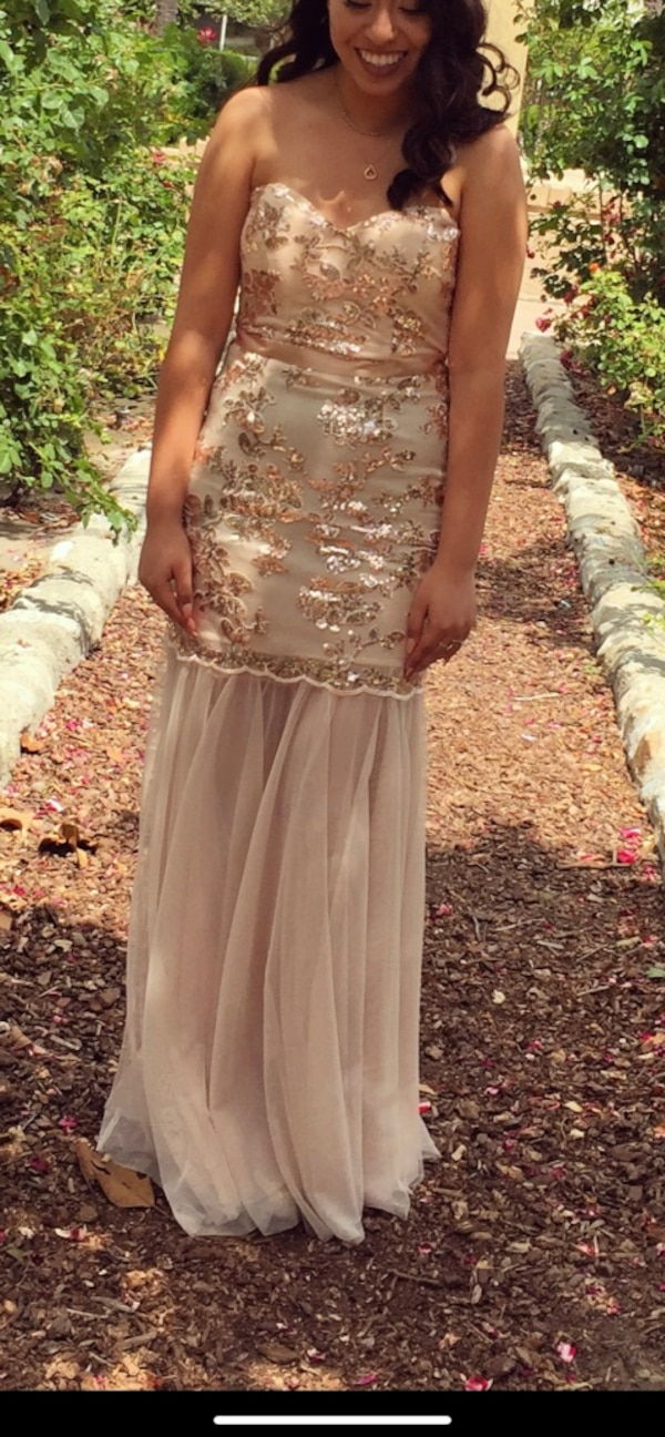 23afc65948b Used Gold sequins Windsor prom gown dress for sale in Anaheim - letgo
