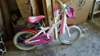 Girls bike with training wheels, bell, & storage Vienna, 22180