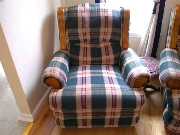 Awesome Blue Red And White Plaid Sofa Chair Gamerscity Chair Design For Home Gamerscityorg