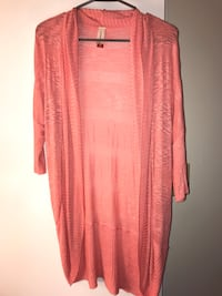 Light Pink/Coral Cardigan Juniors Size M Frederick, 21701
