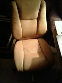 brown and white leather armchair Ocala, 34475