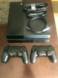 Ps4 with 2 controllers and several games.