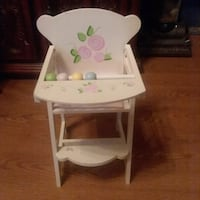 white wooden high chair with tray Mount Airy, 21771
