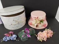 Vintage Hat, Accessories and Box.