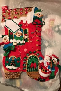 Nana's Handmade Christmas Stockings $100.00 each. Hand stitched and sequined with love and care. The pictures don't do these beautiful socks justice. It's a quality gift for the special ones in your life. Chicago, 60630