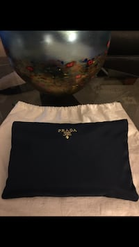 Authentic Prada Blue Navy Nylon Cosmetic/Travel Bag**Christmas Special** Receive an additional -15% off  Richmond, V7A 1N5