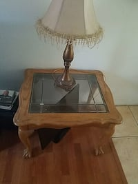 brown wooden framed glass top coffee table Moreno Valley, 92553