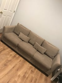 Gray suede 3-seat sofa Centreville, 20120