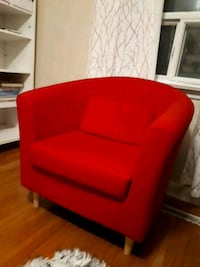 red fabric padded sofa chair Toronto, M1K 4T7