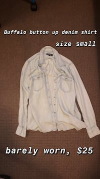 White button-up long sleeve shirt
