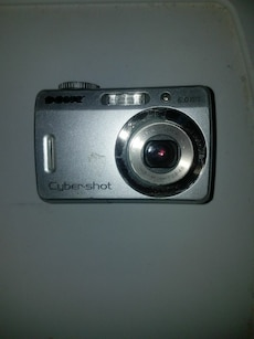 silver Sony compact camera
