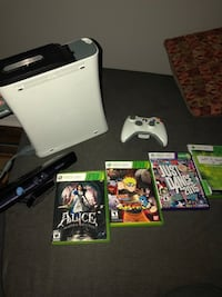 XBOX 360 + controller + kinect + games Gatineau, J8R 1T5
