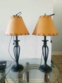Rought Iron lamps