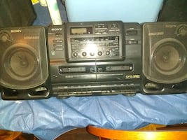 CD Radio and cassette tape player