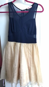 Navy and tan tulle dress (boutique)(size small)  Washington, 20010