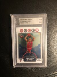 Derrick Rose rookie graded perfect 10 GEM