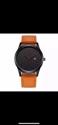 Brand New Black Dial Quartz Watch with Leather Band-shipping  Ajax, L1S 0C8
