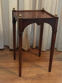 Side table with Brass Finials Midlothian