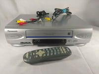 Panasonic vhs vcr with universal remote