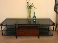 Brown wooden 2-layer tv stand Rochester Hills